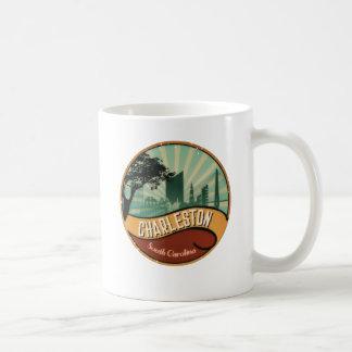 Charleston City Skyline Retro Vintage Mug