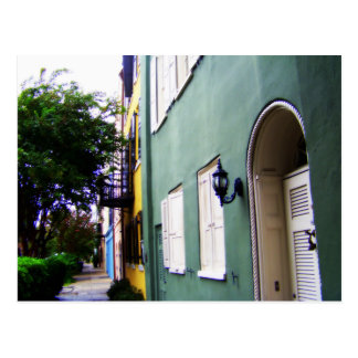Charleston Rainbow Row Houses Postcard