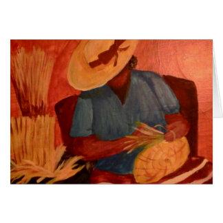 Charleston, SC Basket Lady by Artist Sue Stepp Note Card