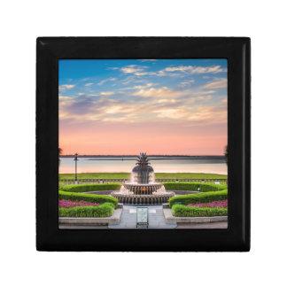 Charleston SC Pineapple Fountain Sunrise Gift Box