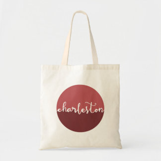 Charleston, SC | Rust Circle Ombre Tote Bag