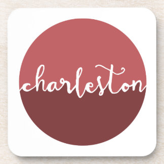 Charleston, SC | Rust Ombre Circle Drink Coaster