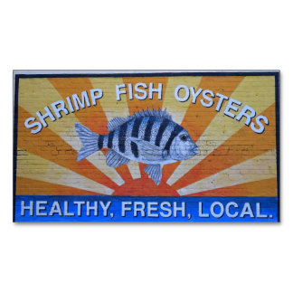Charleston Seafood Business Card Magnet