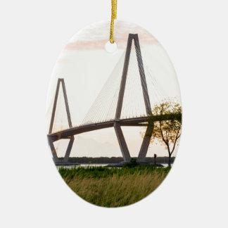 Charleston South Carolina Bridge - Cooper River Ceramic Ornament