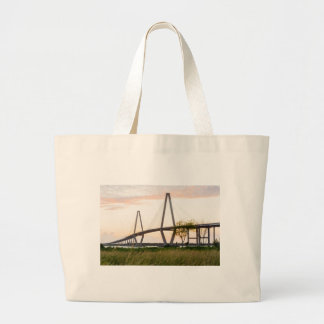 Charleston South Carolina Bridge - Cooper River Large Tote Bag