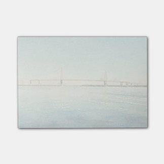 Charleston South Carolina Bridge Watercolor Print Post-it Notes