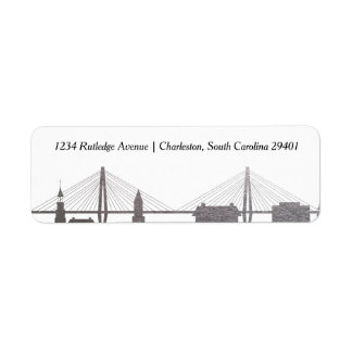 Charleston South Carolina Faux Silver Label Return Address Label
