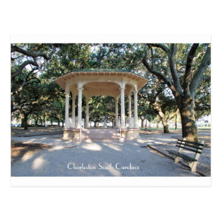 Charleston South Carolina, Gazebo, Battery Postcard