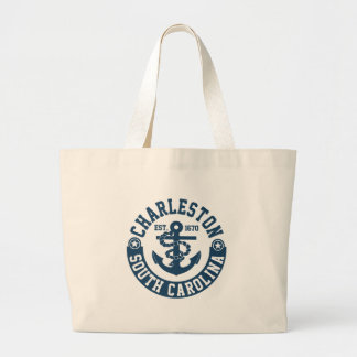 Charleston South Carolina Large Tote Bag