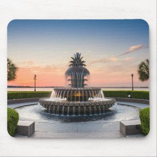 Charleston South Carolina Pineapple Fountain Mouse Pad