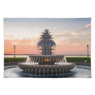Charleston South Carolina Pineapple Fountain Placemat