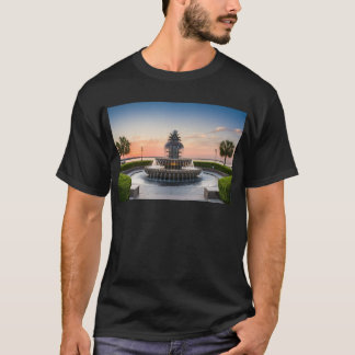 Charleston South Carolina Pineapple Fountain T-Shirt