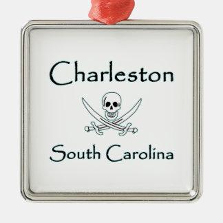 Charleston South Carolina Pirate Logo Metal Ornament