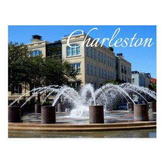 Charleston South Carolina (SC) Fountain Post Card