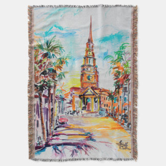 Charleston South Carolina Throw Blanket
