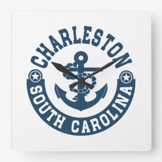 Charleston South Carolina Wall Clocks