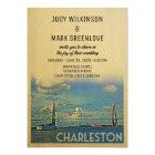 Charleston Wedding Invitation Vintage Mid-Century