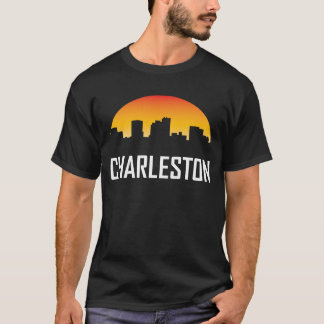 Charleston West Virginia Sunset Skyline T-Shirt