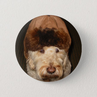 charley in  his beaver hat 2 inch round button