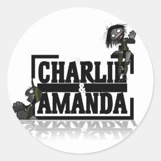 Charlie & Amanda Lrg Logo Sticker
