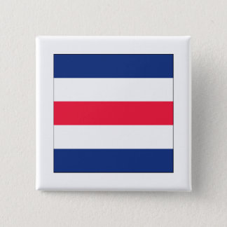 Charlie (C) Signal Flag 2 Inch Square Button