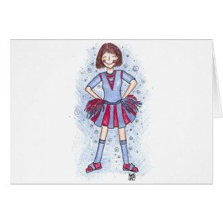 Charlie Cheerleader - brunette Card