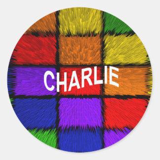 CHARLIE CLASSIC ROUND STICKER