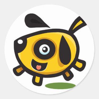 Charlie Doggy Round Sticker