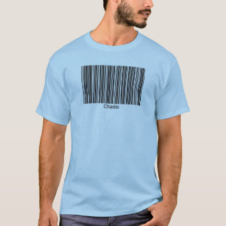Charlie  Personalized Functional Barcode Tee