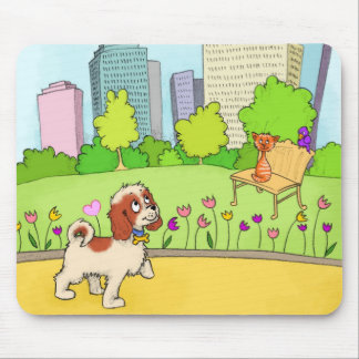 Charlie the Cavalier Central Park Mouse Pad