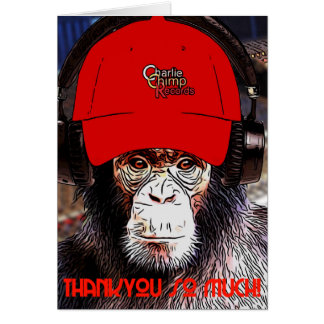 Charlie the Chimp says ... Thank You! Card