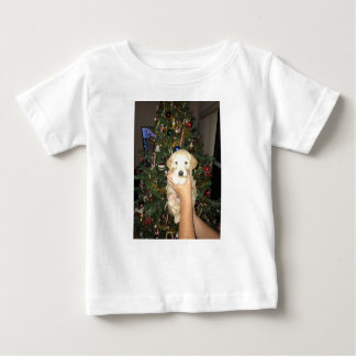 Charlie The GoldenDoodle Puppy on Christmas Baby T-Shirt