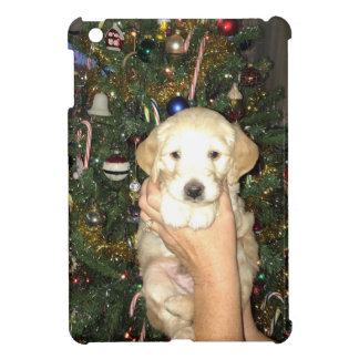 Charlie The GoldenDoodle Puppy on Christmas iPad Mini Cover