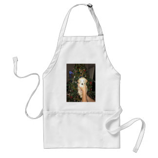 Charlie The GoldenDoodle Puppy on Christmas Standard Apron
