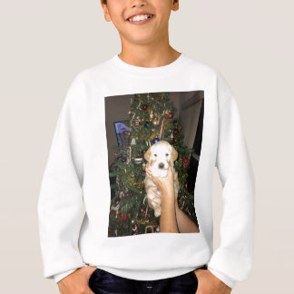 Charlie The GoldenDoodle Puppy on Christmas Sweatshirt
