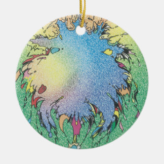 Charlie's Colorful Universe Ceramic Ornament