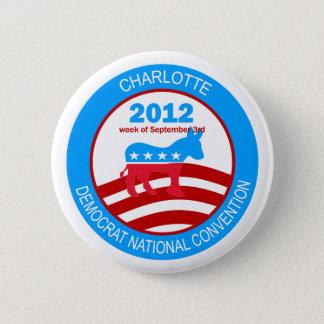 Charlotte 2012 Democrat Convention 2 Inch Round Button