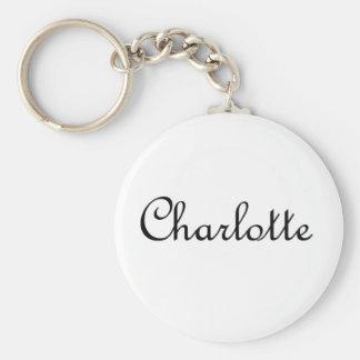 Charlotte Basic Round Button Keychain