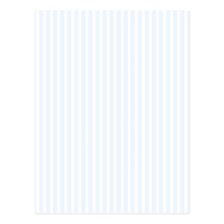 Charlotte Blue and White Stripes Pale Blue Postcard