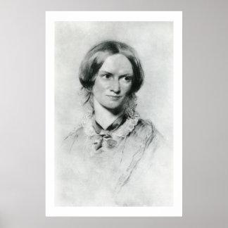 Charlotte Brontë portrait by George Richmond Poster