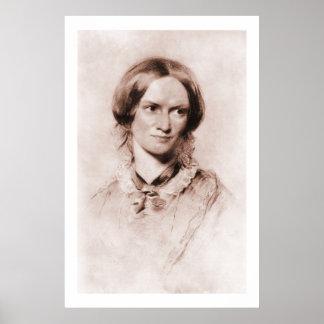 Charlotte Brontë sepia portrait by George Richmond Poster