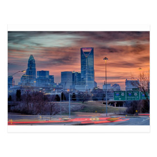charlotte city skyline postcard