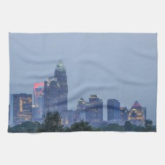 Charlotte city skyline towel