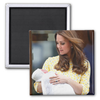 Charlotte Elizabeth Diana - British Will Kate Square Magnet