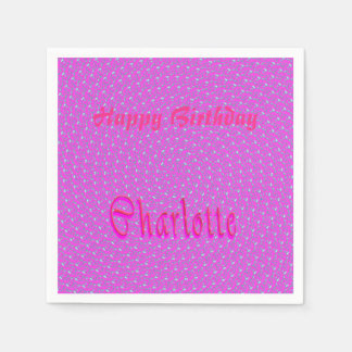 Charlotte Girls Name Logo, Disposable Napkins