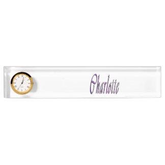 Charlotte Girls Name Logo, Name Plate