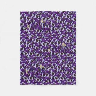 Charlotte Name, Logo, Purple Floral Small Blanket
