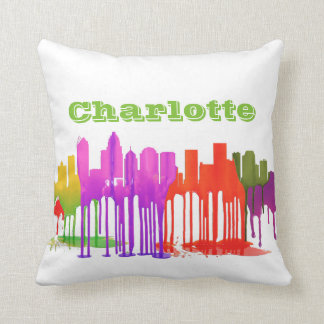 CHARLOTTE NC PUDDLES - THROW PILLOW