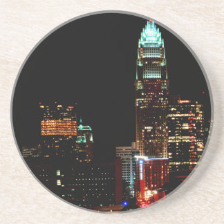 Charlotte NC Skyline Beverage Coasters