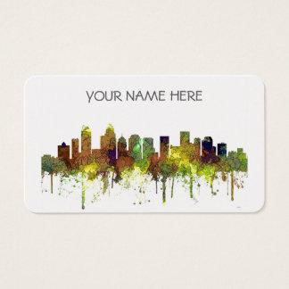 Charlotte NC Skyline SG Safari Buff Business Card